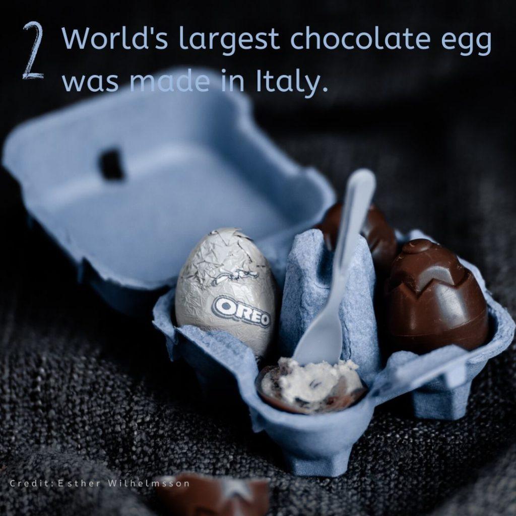 全世界最大的巧克力蛋是義大利人製造的