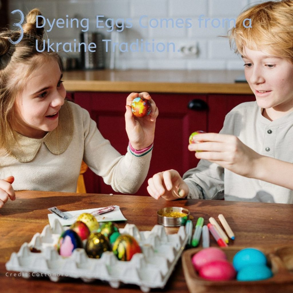 Dyeing Eggs Comes from a Ukraine Tradition.